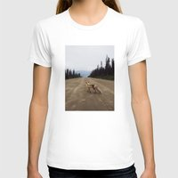 canada T-shirts featuring Road Fox by Kevin Russ