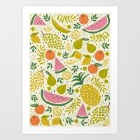 fruit Art Prints featuring Fruit Mix by Anna Deegan