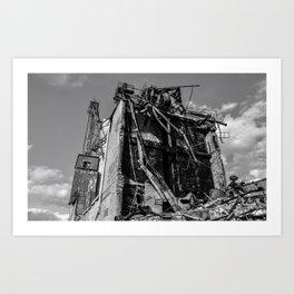 Crumbling Building Art Print