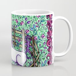 Medieval Unicorn Garden Coffee Mug