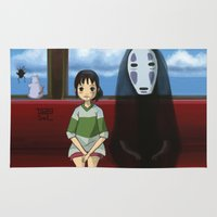 spirited away Area & Throw Rugs featuring Spirited Away  by Tamy Sal