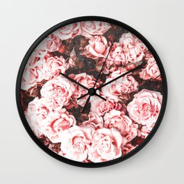 Vintage Roses - Pink Perfection Wall Clock