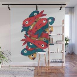 Fish Stack Wall Mural