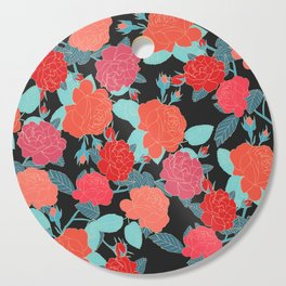 Rose Garden - Dark Cutting Board