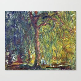 1918-Claude Monet-Weeping Willow-99 x 120 Canvas Print