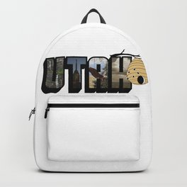Utah The Beehive State Big Letter Backpack