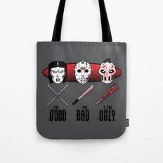 Hockey Mask Evolution Tote Bag