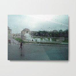 Paris à pluie Metal Print