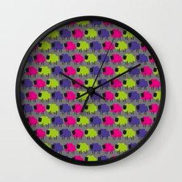 Colourful Sheep Wall Clock