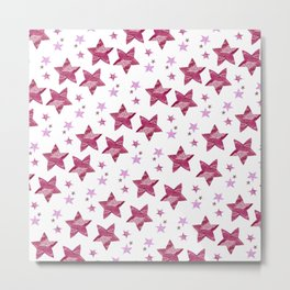 Twinkle little purple stars Metal Print