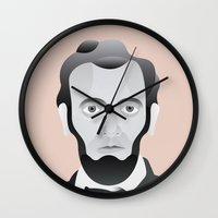 lincoln Wall Clocks featuring LINCOLN by armantas