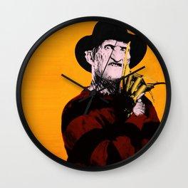 Horror Series Pop Art: Freddy Krueger Wall Clock