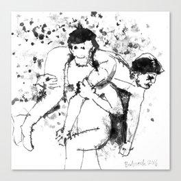 Fireman's Carry Canvas Print