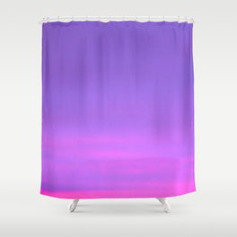 Pink and purple sky a winter morning Shower Curtain