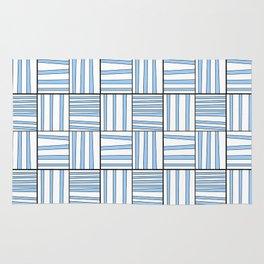 symetric tartan and gingham 7 -vichy, gingham,strip,square,geometric, sober,tartan Rug