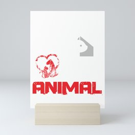 Activist Vegan Pet Owners Animals Lover Fight For Animal Rights Wildlife Gift Mini Art Print