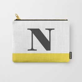 Monogram Letter N-Pantone-Buttercup Carry-All Pouch