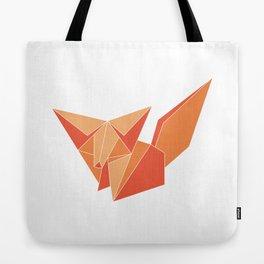 "Collection ""Origami"" impression ""Fox Paper"" Tote Bag"