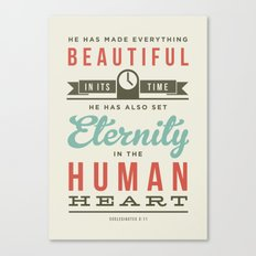 He has made everything beautiful Canvas Print