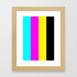 CMYK 100 Framed Art Print