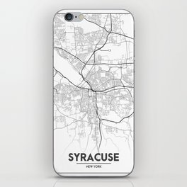 Minimal City Maps - Map Of Syracuse, New York, United States iPhone Skin