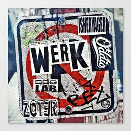 WERK Canvas Print
