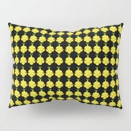 Cat's Claw Bloom illustration (black background) Pillow Sham
