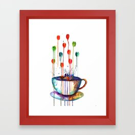 Coffee Splash Framed Art Print