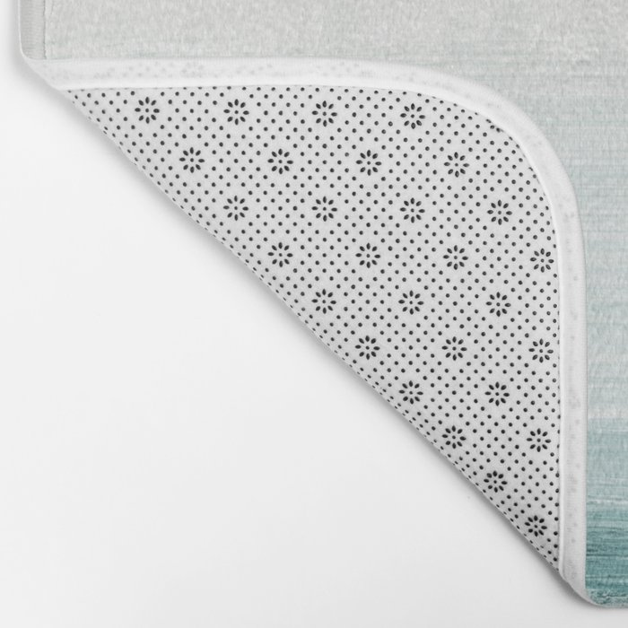 hazy emerald sea Bath Mat