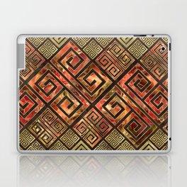 Greek Meander Pattern - Greek Key Ornament Laptop & iPad Skin