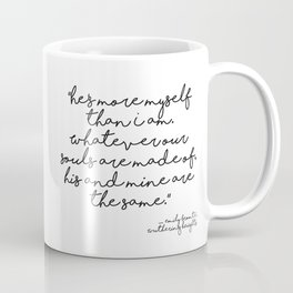 More myself than I am - Bronte quote Coffee Mug