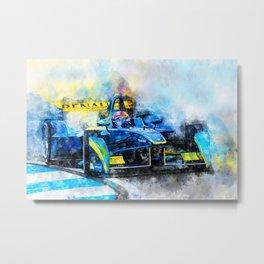 Sebastien Buemi, Formula E Metal Print