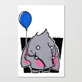 Chibi Elephant  Canvas Print