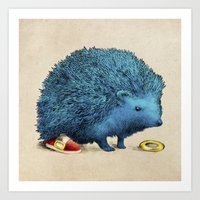 sonic youth Art Prints featuring Sonic by Eric Fan