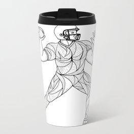 Quarterback Throwing Action Zentagle Metal Travel Mug