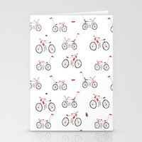 bikes Stationery Cards featuring bikes by Marcelo Badari
