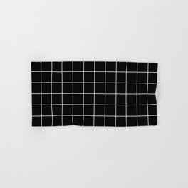 Grid Simple Line Black Minimalist Hand & Bath Towel