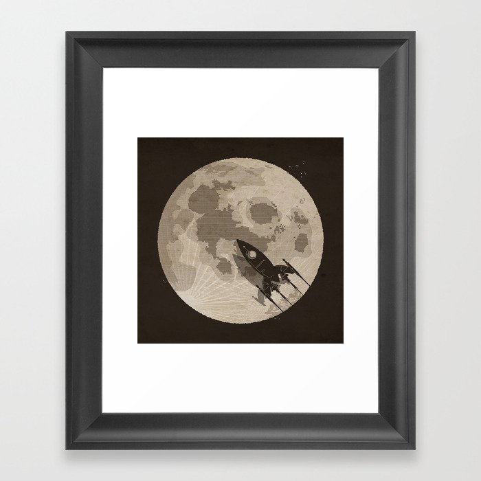 Around the Moon Framed Art Print