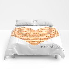 CORAZON (naranja) Comforters