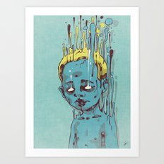 The Blue Boy with Golden Hair Art Print