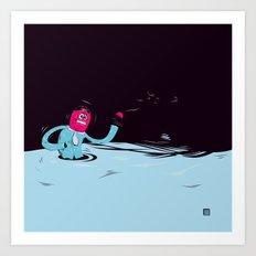 EggHead Lost (again) Art Print