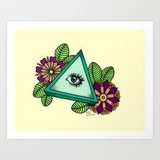 I See You △ Art Print