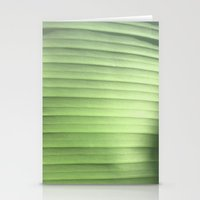 banana leaf Stationery Cards featuring Banana Leaf Close by Glenn Designs