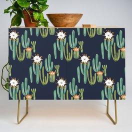 Dark Cactus Desert Credenza