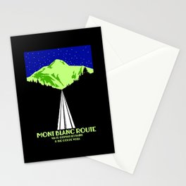 Mont Blanc Alps railway route Stationery Cards