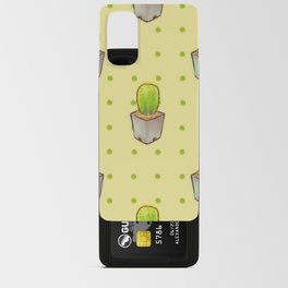 Small green cactus Android Card Case