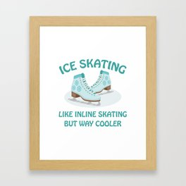 Ice Skating Framed Art Print
