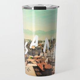 Lausanne city Travel Mug