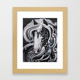 Gypsy Cobb Horse Framed Art Print