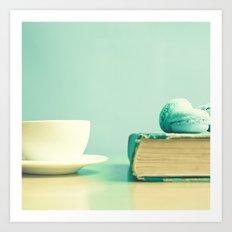 Macaroons and Coffee Art Print